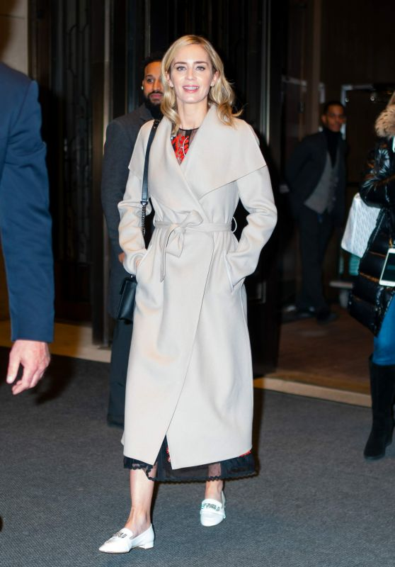 Emily Blunt - Leaving Her Hotel in NYC 12/01/2018