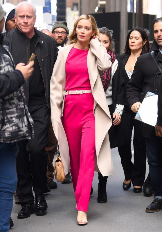 Emily Blunt - Leaving Sirius XM in NYC 12/03/2018