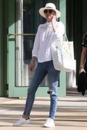 Emily VanCamp Casual Style - Honeymoon in Miami 12/22/2018