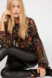 Frida Aasen - Photoshoot for Free People Fall 2018