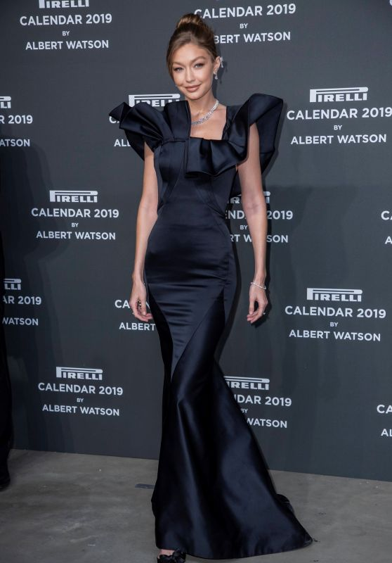 Gigi Hadid - 2019 Pirelli Calendar Launch Gala in Milan