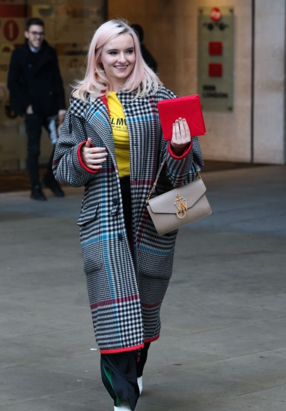 Grace Chatto - Exits BBC Broadcasting House in London 12/20/2018