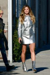 Heidi Klum in Silver Futuristic Dress 12/04/2018