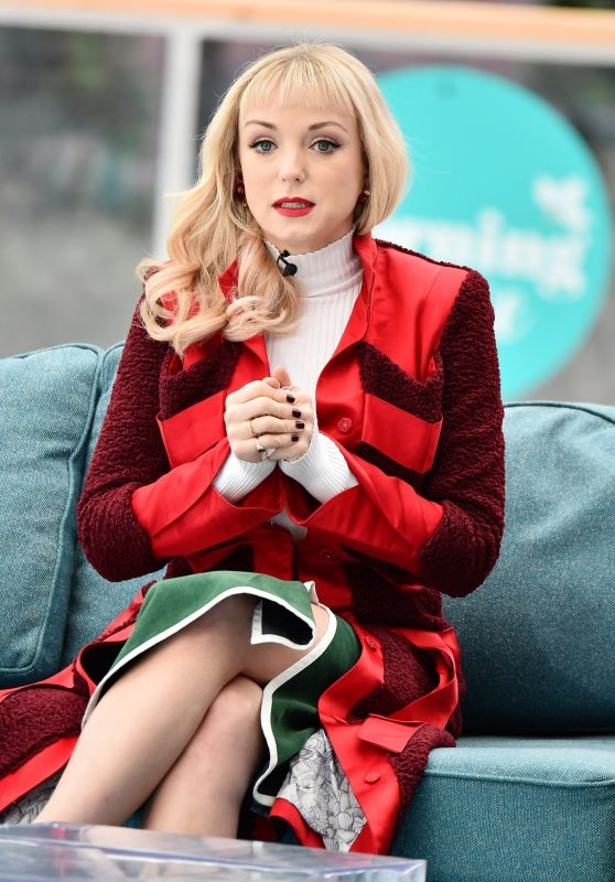 """Helen George - ITV """"This Morning"""" Show in London 12/12/2018"""