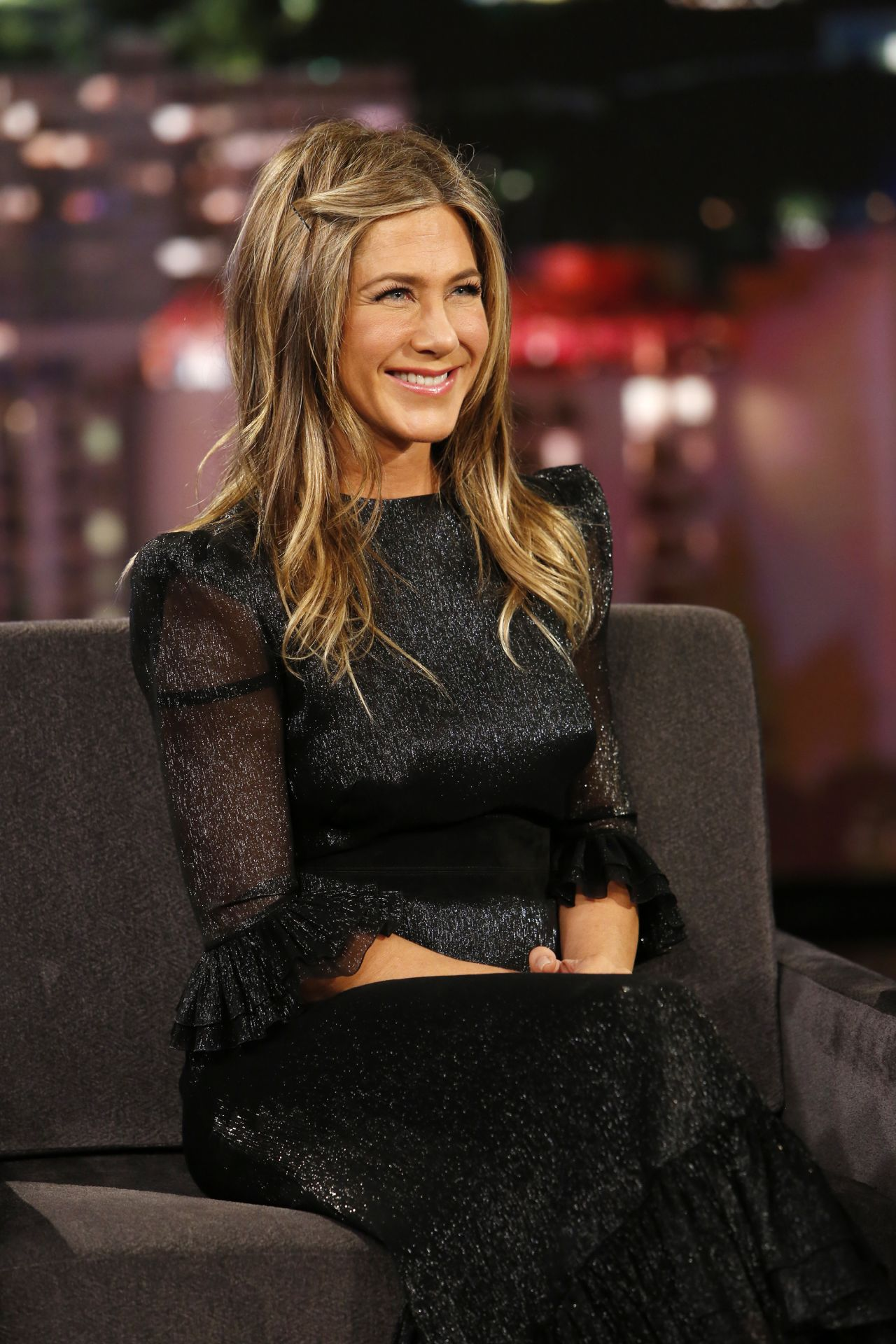 Jennifer Aniston Appeared on Jimmy Kimmel Live in Los ... Jennifer Aniston
