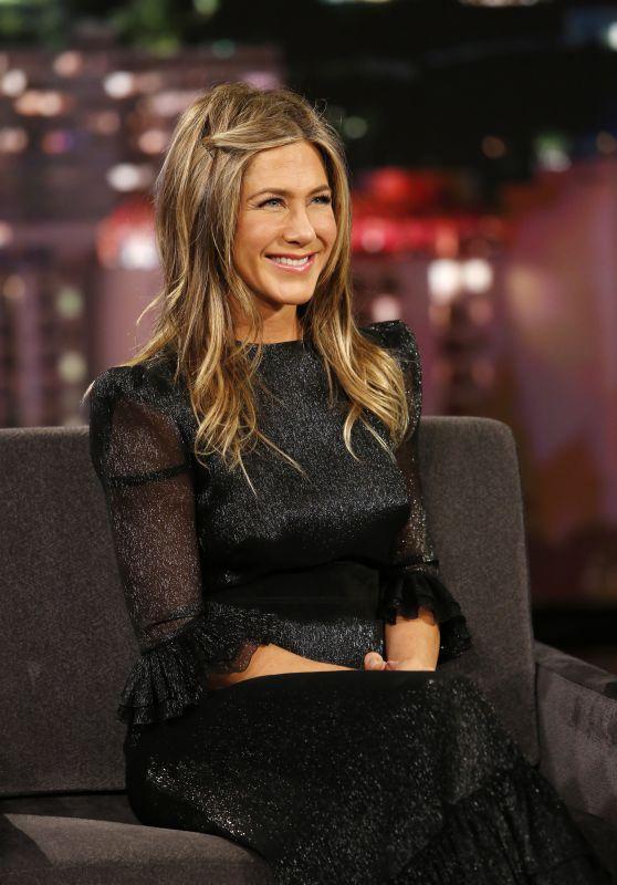 Jennifer Aniston Appeared on Jimmy Kimmel Live in Los Angeles 12/05/2018