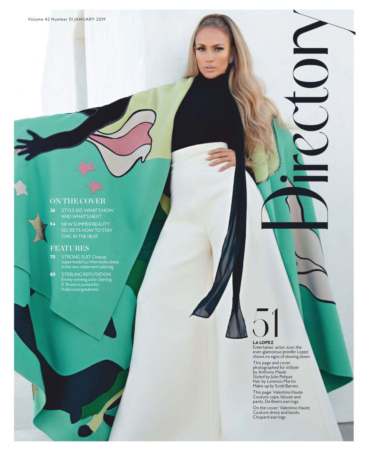 Jennifer Lopez InStyle Australia January 2019