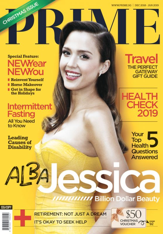 Jessica Alba - Prime Magazine Singapore December 2018 / January 2019 Cover