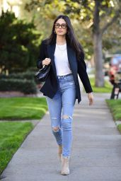 Jessica Gomes in Office Chic Outfit LA 12/21/2018