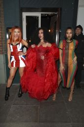 Jesy Nelson, Jade Thirlwall and Leigh-Anne Pinnock at Jade Thirlwall's Birthday Party in London 12/22/2018