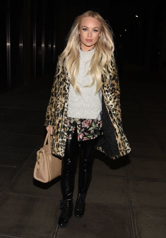 Jorgie Porter - Arriving at RTE Studios For The Podge and Rodge Show in Dublin 12/09/2018