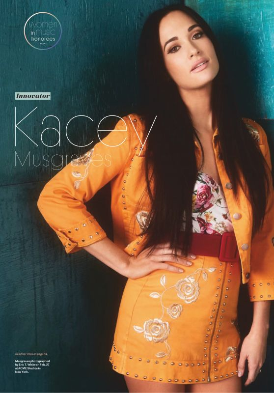 """Kacey Musgraves - Billboard """"Woman of the Year 12/08/2018"""