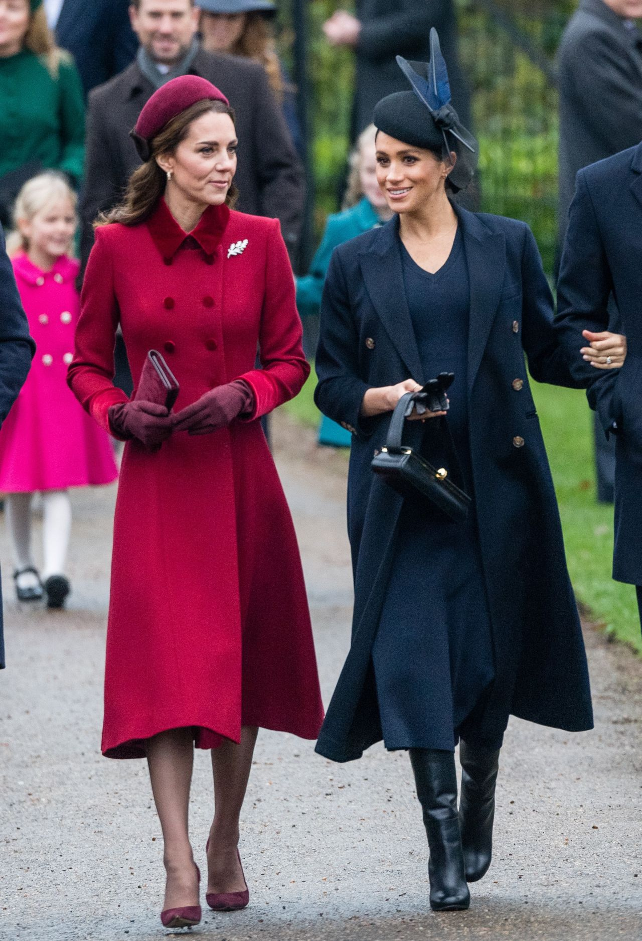Kate Middleton and Meghan Markle – Christmas Day Church ...