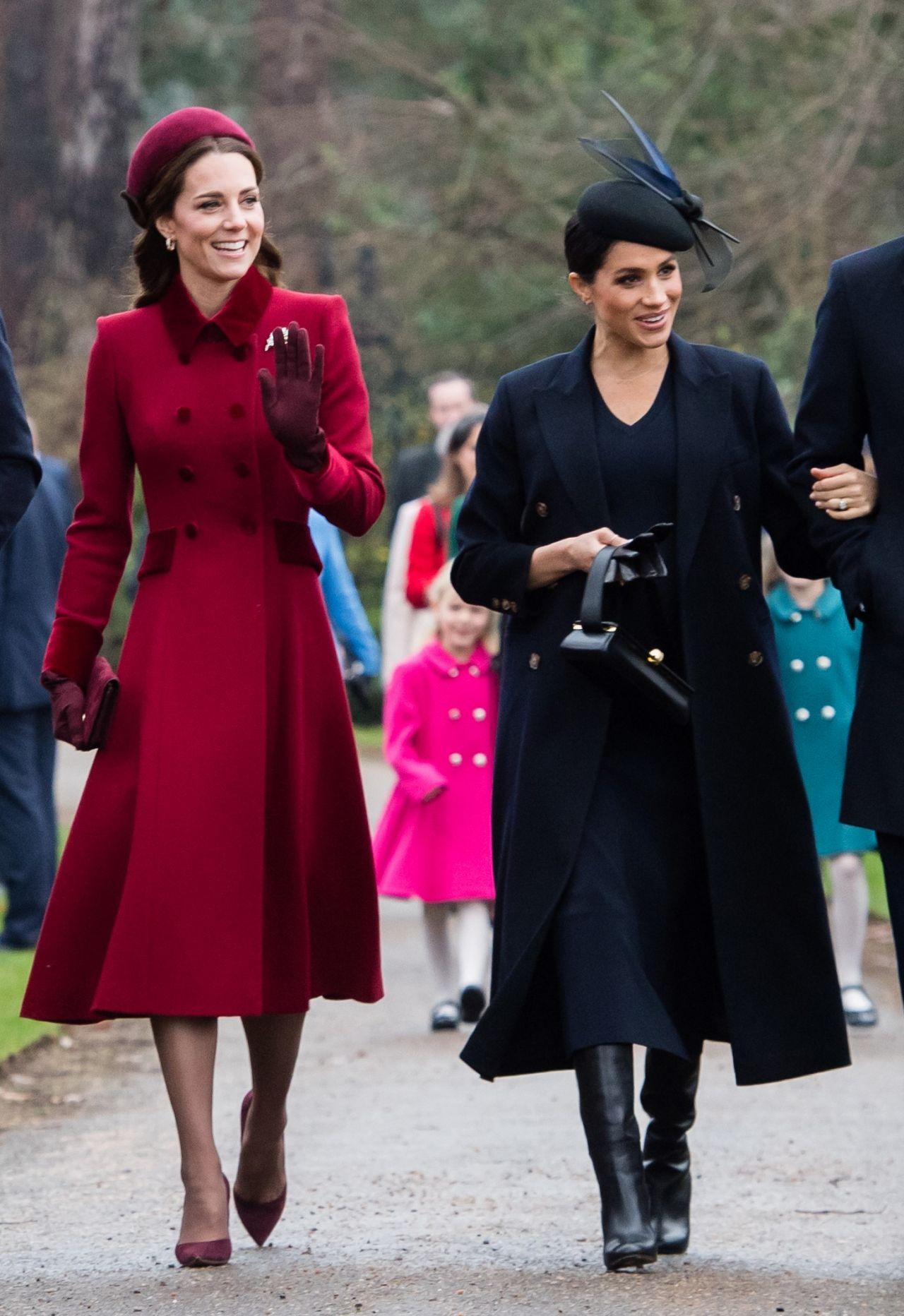 Kate Middleton And Meghan Markle Christmas Day Church