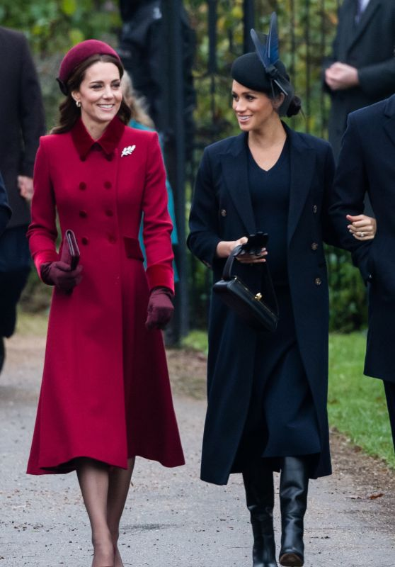 Kate Middleton And Meghan Markle Christmas Day Church