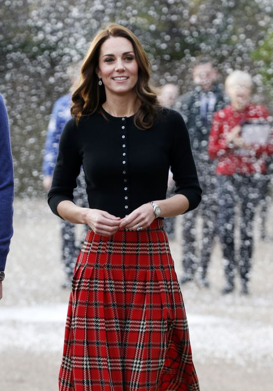 Kate Middleton and Prince William Host a Christmas Party in London 12/04/2018