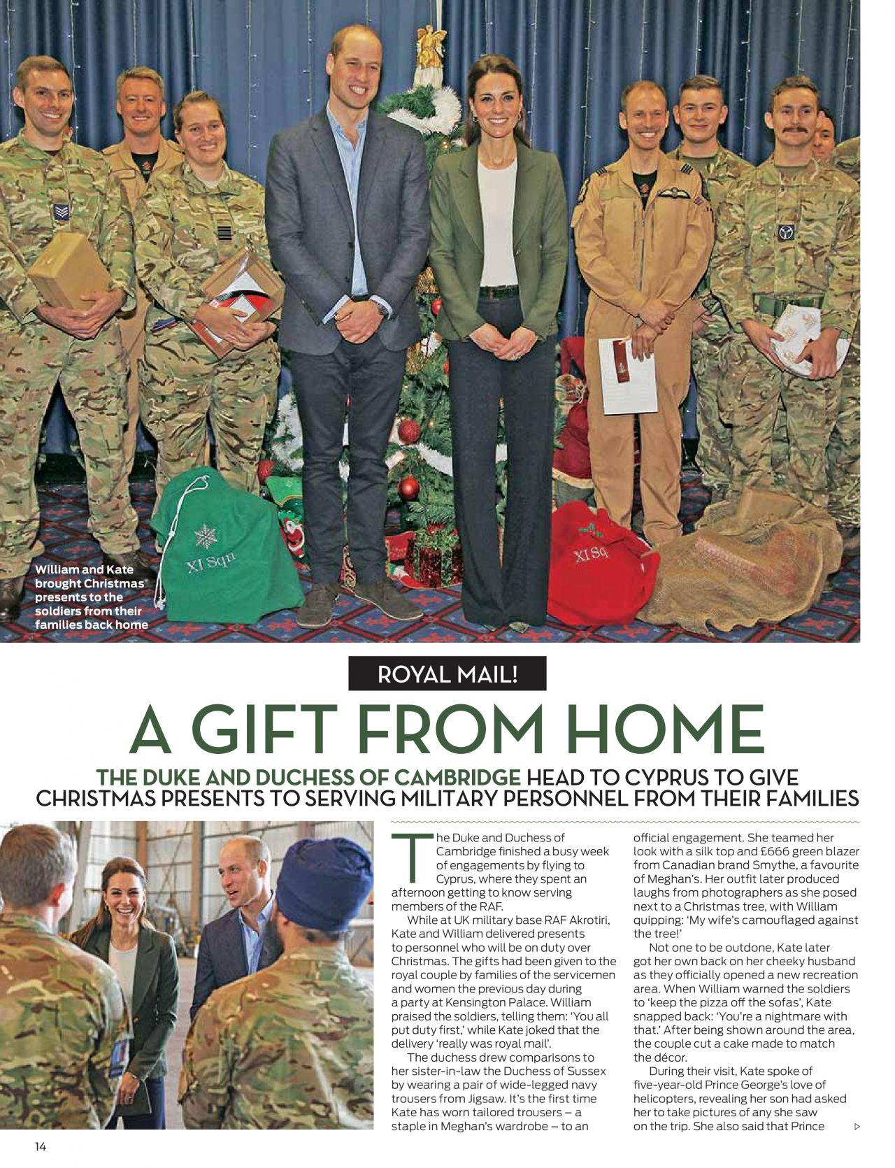 Kate Middleton and Prince William - OK! Magazine UK December