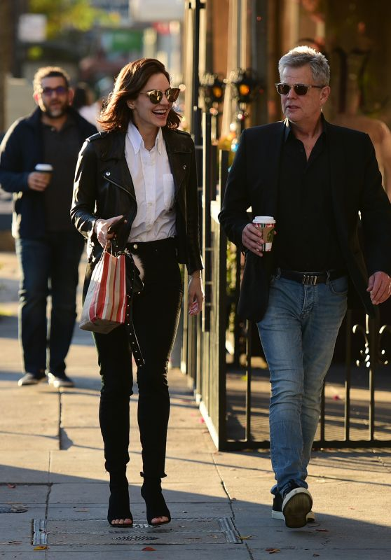 Katharine McPhee and David Foster - Shopping in LA 12/19/2018