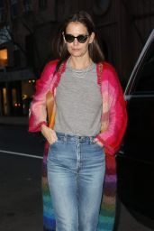 Katie Holmes Street Style - Serendipity in New York 12/18/2018