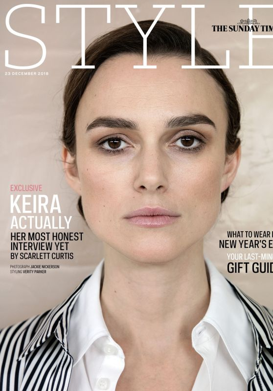 Keira Knightley - The Sunday Times Style December 2018 Cover