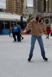 Kendall Jenner - Ice Skating in Philadelphia 12/03/2018