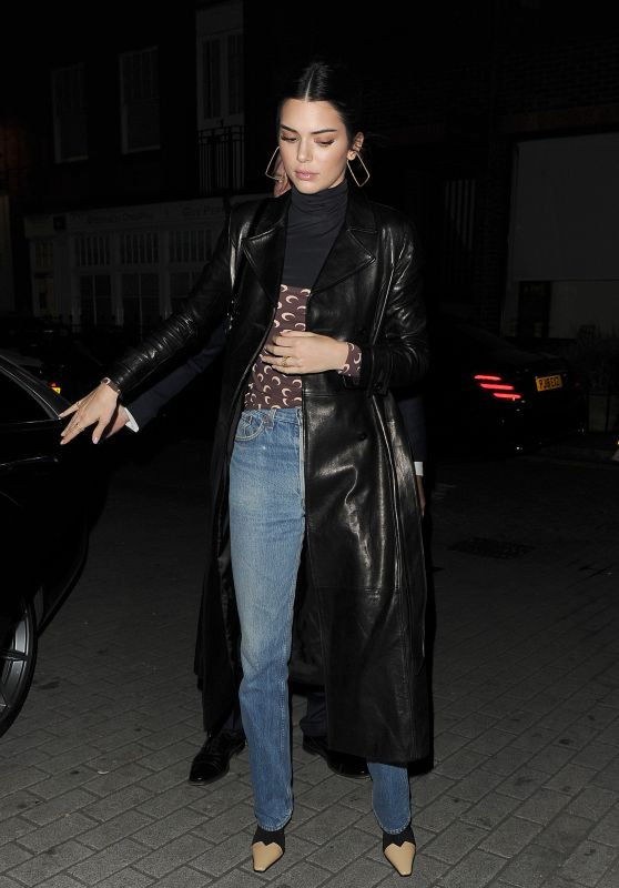 Kendall Jenner Night Out Style - London 12/10/2018