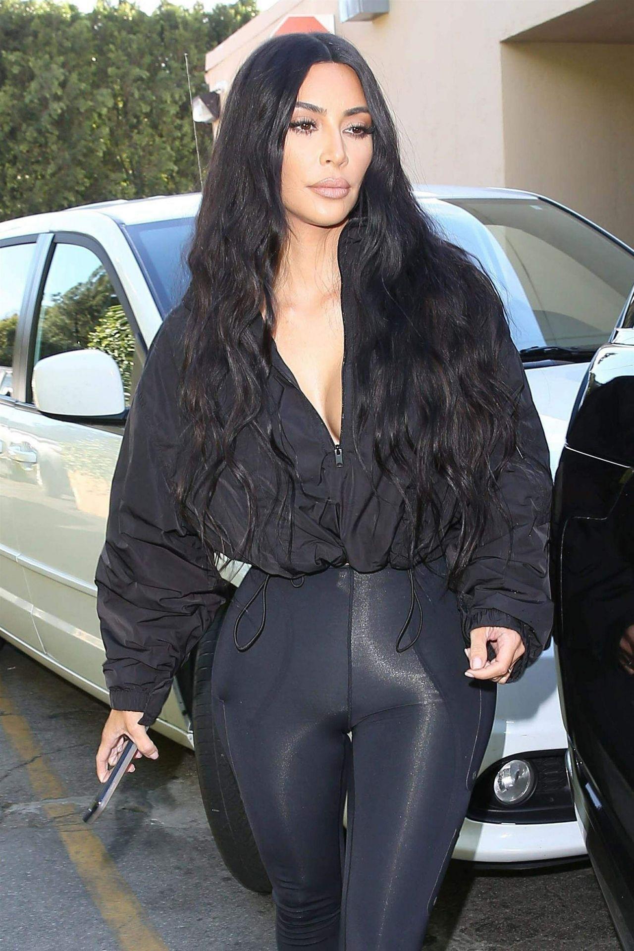 Kim Kardashian In Spandex 12192018
