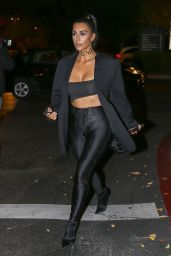 Kim Kardashian Night Out Style 12/17/2018