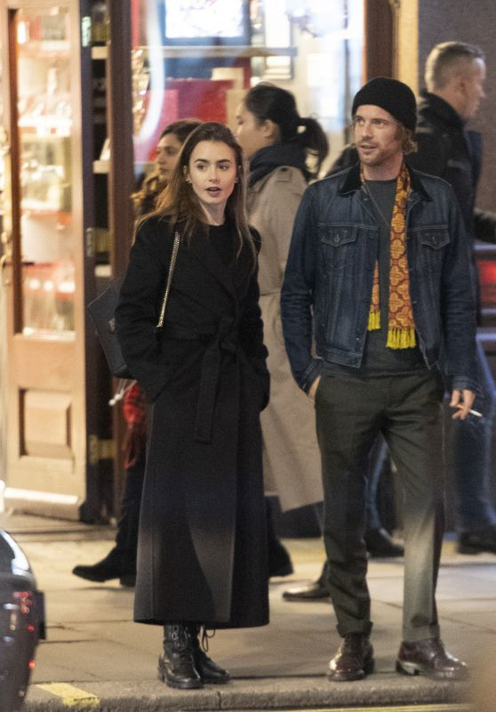 Lily Collins and Harry Treadaway - Leaving Lily