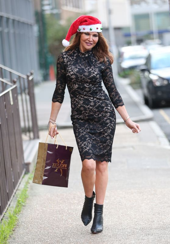 Lizzie Cundy Exits TalkRadio in London 12/22/2018