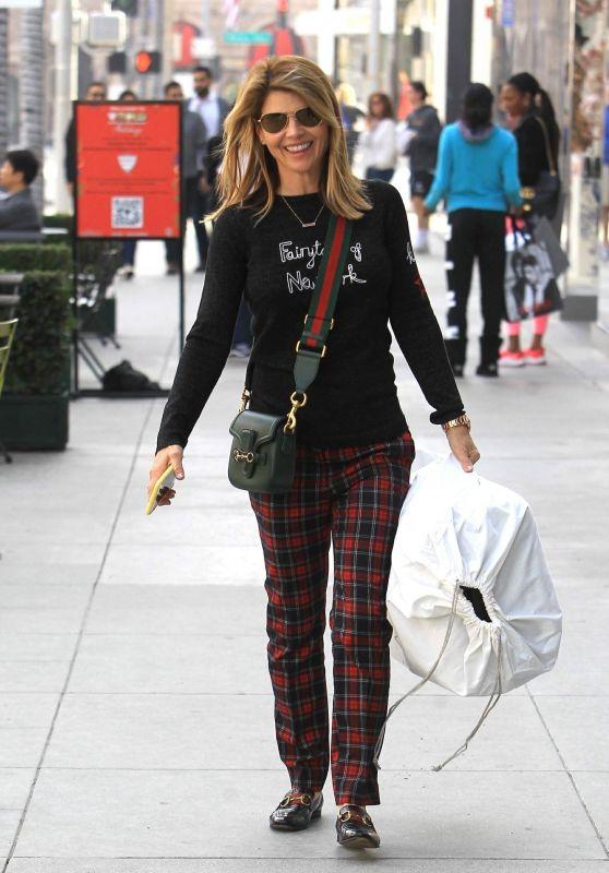 Lori Loughlin - Shopping in Beverly Hills 12/23/2018