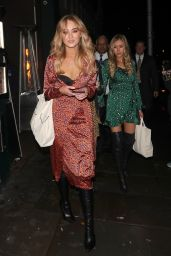 Lottie Moss and Emily Blackwell - Ours Restaurant in London 11/29/2018