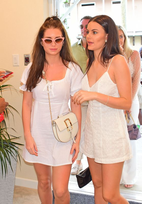 Lottie Moss and Emily Blackwell – Virgin Holidays Departure Beach Launch in Barbados