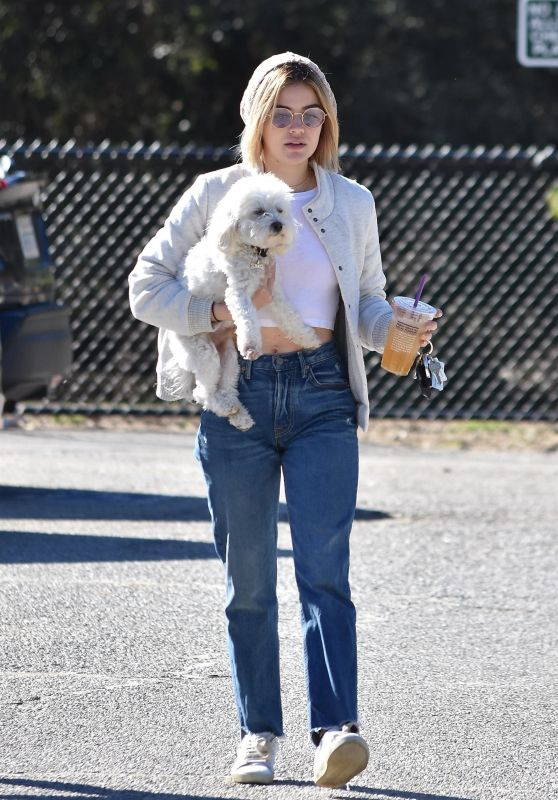 Lucy Hale at the Dog Park in LA 12/08/2018