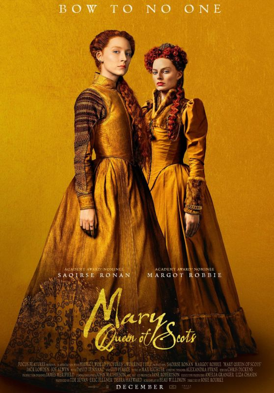 Margot Robbie and Saoirse Ronan - History Scotland - Mary Queen of Scots, December 2018
