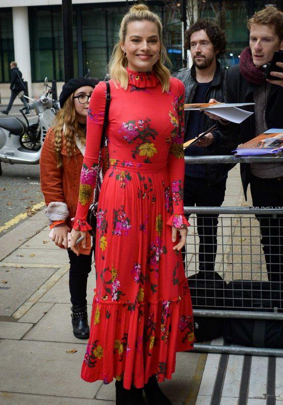 Margot Robbie - Outside of the BBC Radio 1 Studios in London 12/10/2018