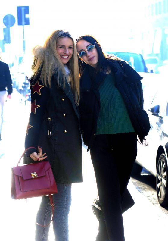 Michelle Hunziker and Aurora Ramazzotti - Milan 12/04/2018