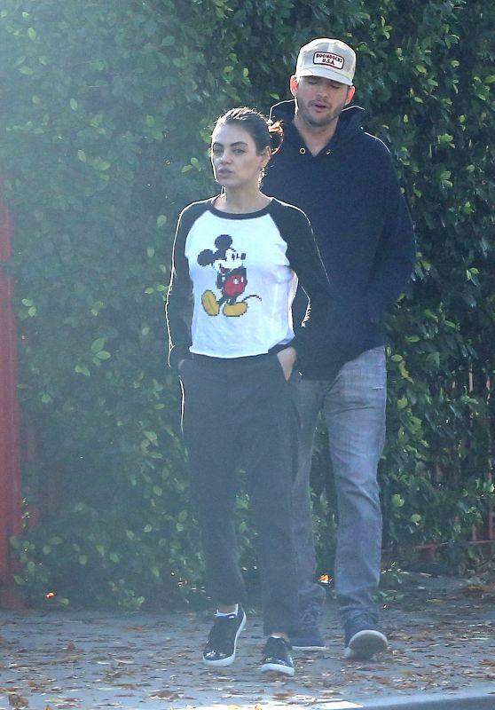 Mila Kunis and Ashton Kutcher - Out in LA 11/30/2018