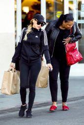 Naya Rivera and Her Mother Yolanda Rivera - Grocery Shopping in LA 12/29/2018