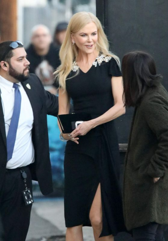 Nicole Kidman Style - Goes to Jimmy Kimmel Show in LA 12/11/2018