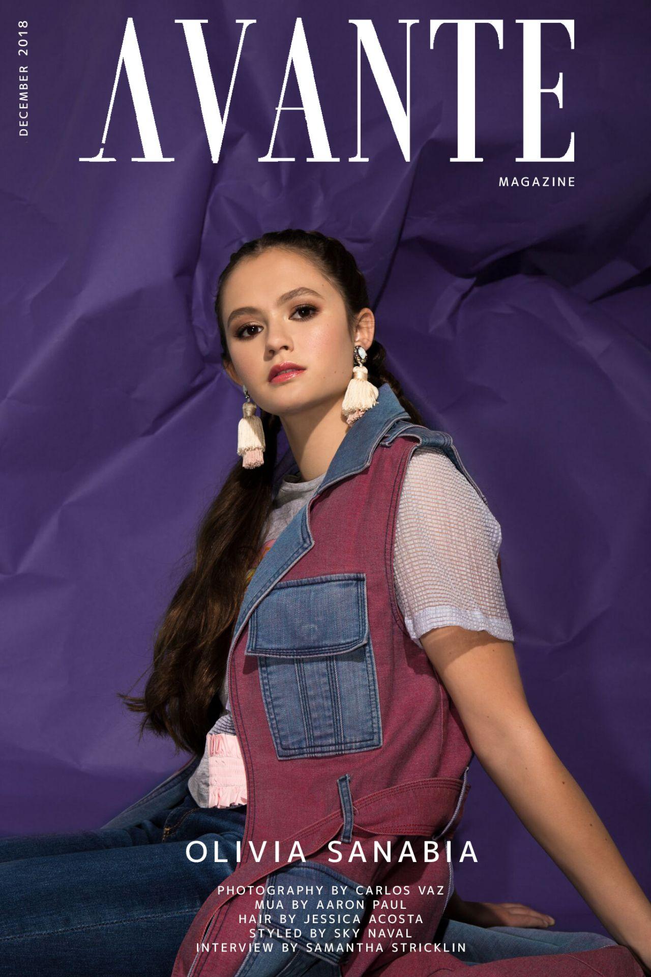 Olivia Sanabia Avante Magazine December 2018