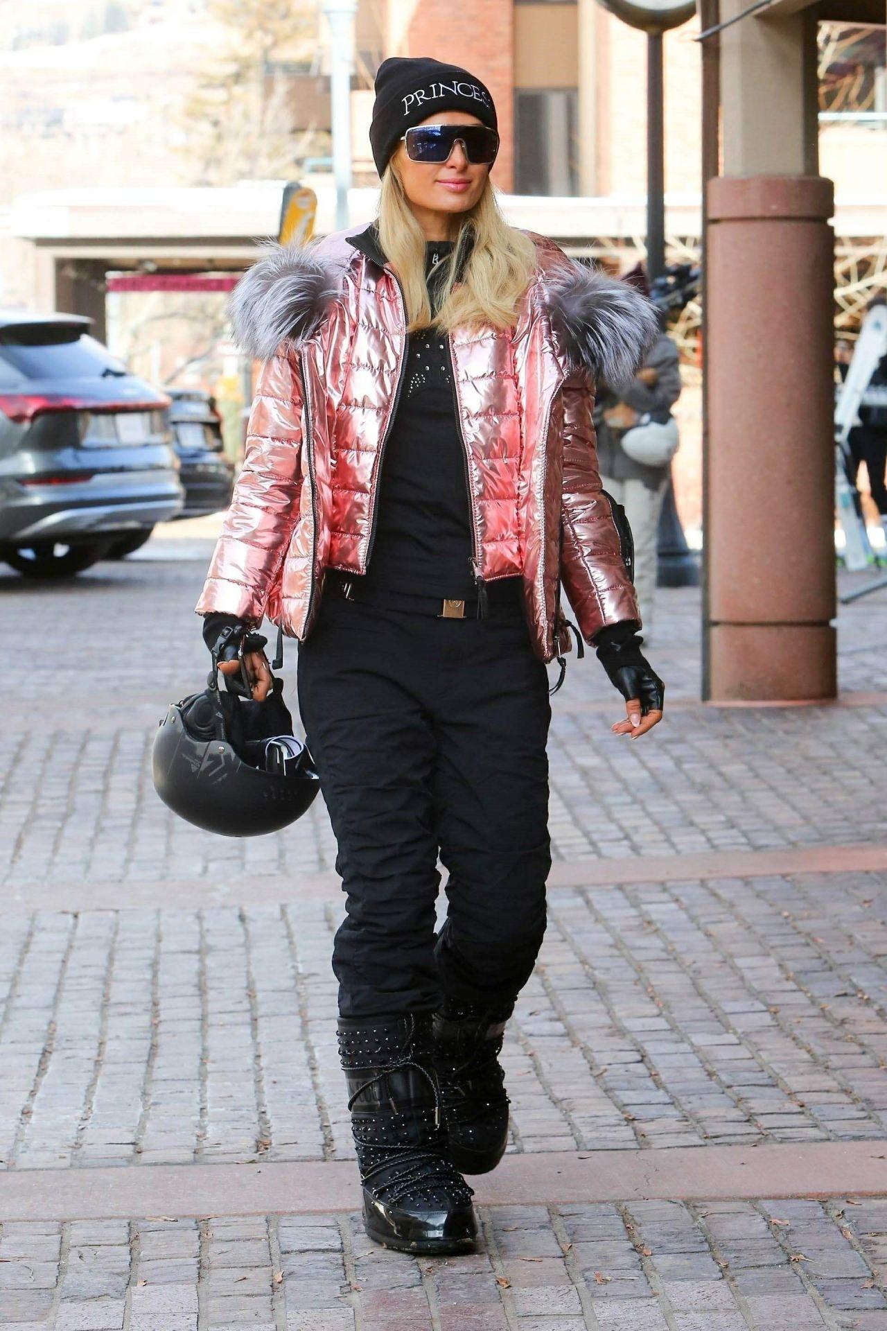 Paris Hilton Winter Style Out In Aspen 12 29 2018