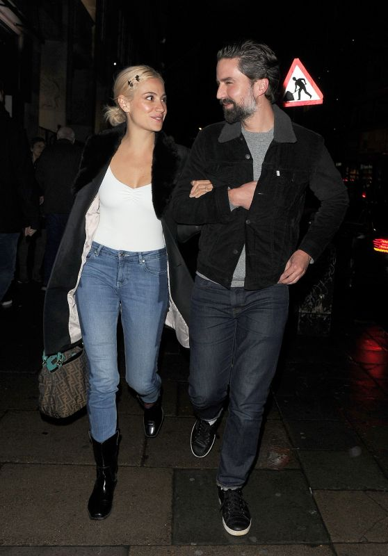 Pixie Lott and Jack Guinness - Leaving the Phoenix Theatre 12/18/2018