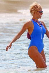 Pixie Lott in a Blue Swimsuit 12/09/2018