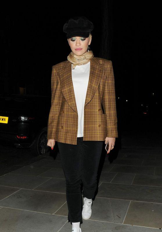 Rita Ora - Leaving the Christmas Special Graham Norton Show in London 12/12/2018