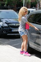 Shakira in a Jeans Shorts in Barcelona 12/17/2018