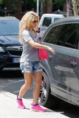 Shakira in a Jeans Shorts in Barcelona 12/17/2018