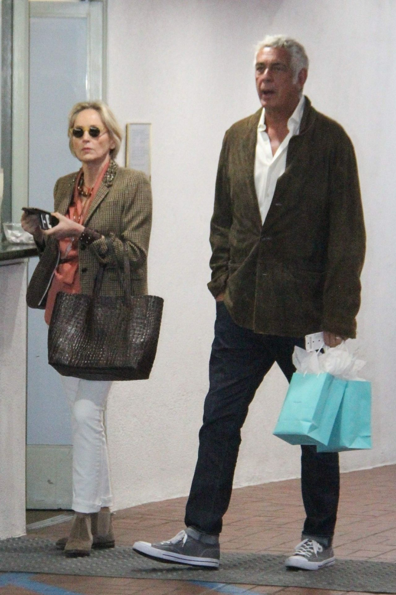 Sharon Stone In Casual Outfit 12 17 2018