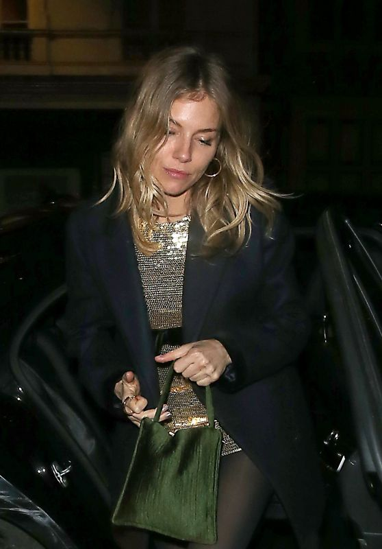 Sienna Miller Night Out - Chiltern Firehouse in London 12/19/2018