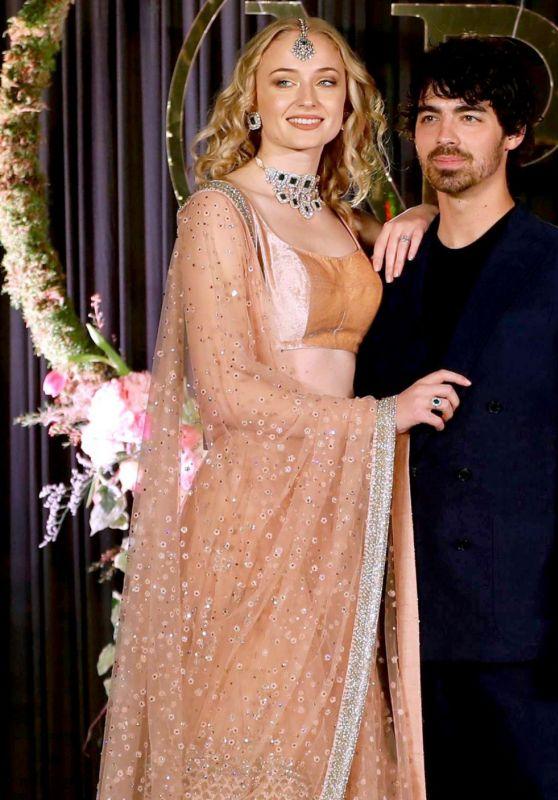 Sophie Turner and Joe Jonas at Wedding Reception in India 12/04/2018